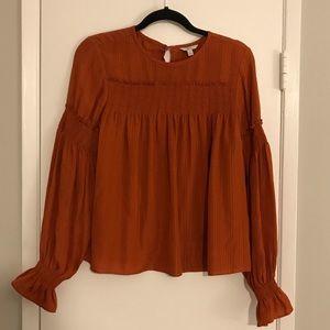 JOIE Women's Size Small Orange Rust Blouse